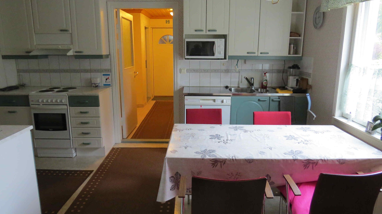 majoitustilan keittiö